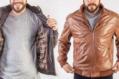 Men's Leather Bomber Jacket £119 41% OFF! #bestdressed #fashion #ukhd #style #deal http://www.bestdressed.co.uk