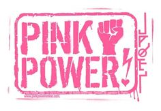 Pink power logo sticker
