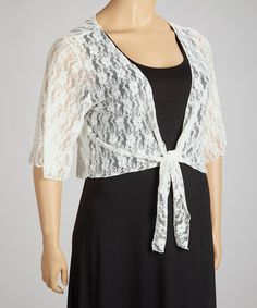 This lacy piece offers a simple, stylish way to dress up any ensemble, from a cocktail dress to jeans and a tank.