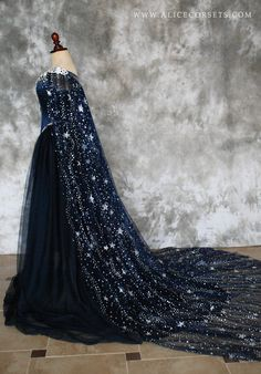 Fairytale Bridal Starry Cloak Wicca Cape Witch Outfit