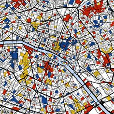 Paris by Mondrian Maps