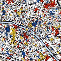 Paris by Mondrian Maps