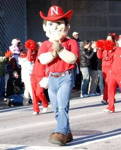 Nebraska Cornhuskers Football Team mascot - Herbie Husker