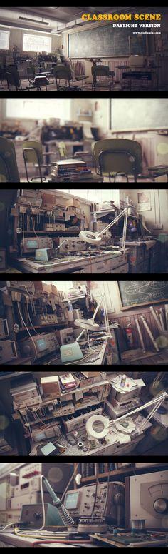 Classroom Scene by ~themeny on deviantART