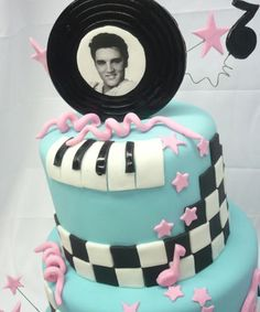 Elvis themed cake--want this for my birthday!!
