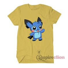 3c02443e Stitch Collab Pokemon Pikachu Parody T-shirt