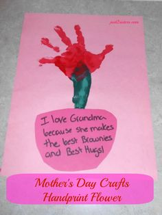 #MotherDay Craft – Handprint Flower For Kids