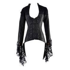 Black Gothic Lace Sleeve Corset Jacket | Steel Boned Corsets | Corsets