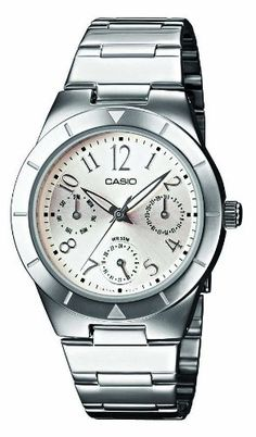 Casio LTP2069D7A2VEF Junior Analog Quartz Watch with Date Indicator and Steel Bracelet *** You can find more details by visiting the image link.Note:It is affiliate link to Amazon.