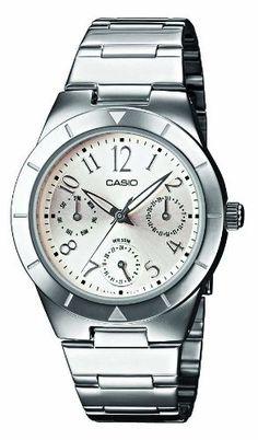 CASIO LTP-2069D-7A2VEF - Reloj unisex de cuarzo, correa de acero inoxidable