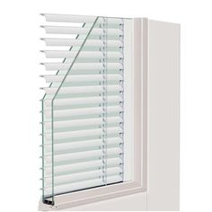 Composite White Left Hand Smooth Interior With Low E Blinds Between Glass  DP 50 Sliding Patio Door, Smooth White Exterior And Interior