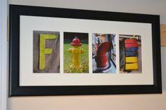 Personalized Firefighter Letter Art by FiremanFotoArt on Etsy, $60.00