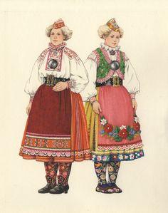 Eesti muuseumide veebivärav - Muhu rahvarõivad. Melanie Kaarma akvarell