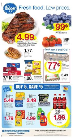 Kroger Weekly Ad Circular March 15 - 21 United States #grocery #food #savings #Kroger