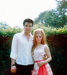 Priscilla and Elvis Presley, April 1966.