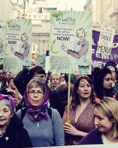 The Fawcett Society vision is of a society in which women and men enjoy equality at work, at home and in public life. They campaign on women's representation in politics and public life.