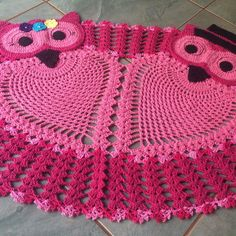 Crochet Applique Patterns Free, Crochet Square Patterns, Easy Knitting Patterns, Crochet Motif, Crochet Doilies, Crochet Stitches, Crochet Baby Toys, Crochet Owls, Crochet Carpet
