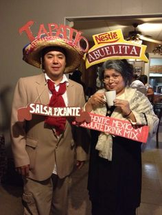 latino couple halloween costume idea tapatio man abuelita chocolate