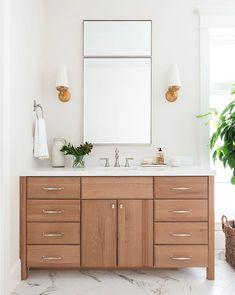 O'Connor Mirror – McGee & Co. Oak Bathroom Vanity, Wood Vanity, Bathroom Renos, Bathroom Renovations, Master Bathroom, Bathroom Ideas, Modern Bathroom Vanities, Oak Bathroom Cabinets, Lake Bathroom