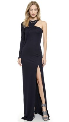 Donna Karan New York Plunge V Halter Gown | SHOPBOP