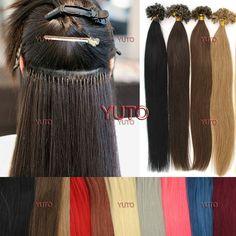 Wish | 100S 16-26inches Pre Bonded Nail U Tip Keratin Fusion Real Human Hair Extensions