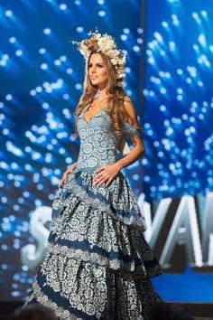 Zuzana Kollarova Slovak republic - Miss Universe competition: The National Costume Round Barbie Miss, Beautiful Inside And Out, Beauty Pageant, Competition, Universe, Pageants, Costumes, Formal Dresses, Asylum