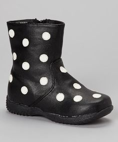 Black & White Polka Dot Boot
