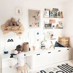 Brilliant Playroom Decor Ideas Related posts:Baby Nursery: Easy and Cozy Baby Room Ideas for Girl and Boys for or So Awesome Accessories for a Harry Potter Inspired Kids Room Playroom Decor, Baby Room Decor, Playroom Ideas, Kids Playroom Storage, Kids Room Shelves, Children Playroom, Ikea Toy Storage, Bedroom Decor, Kids Shelf