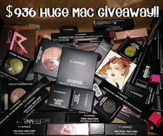 Only a few more days to enter!!!!  6 Ways to Win MAC Cosmetics Haul Worth $936!
