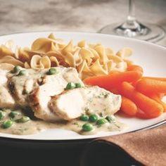 Chicken with Tarragon Cream Sauce - EatingWell.com