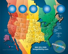 7 Best Maps Of Usa Time Zone Images In 2012 Time Zone Map Time - Us-map-of-timezones