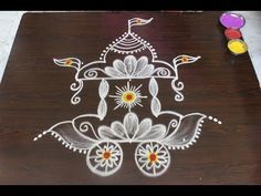 simple lotus rangoli for pongal - beautiful flower kolam with dots - sankranthi muggulu Source by Rangoli Side Designs, Easy Rangoli Designs Videos, Simple Rangoli Designs Images, Rangoli Designs Latest, Free Hand Rangoli Design, Small Rangoli Design, Rangoli Patterns, Rangoli Ideas, Rangoli Designs With Dots