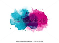 Abstract isolated watercolor stain