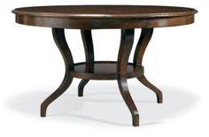 Shop for Hickory White Round Dining Table, and other Dining Room Dining Tables at Shofers in Baltimore, MD. Extends to with 1 - filler. Hickory White Furniture, Large Furniture, Quality Furniture, Dining Room Furniture, Furniture Decor, Round Extension Table, White Round Dining Table, Dining Tables, Wormy Chestnut