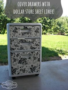 (Plastic drawers from Target and shelf paper from Dollar Store) Orchard Girls: Thrifty Thursday: Cover Drawers with Dollar Store Shelf Liner! Plastic Storage, Craft Storage, Plastic Bins, Decorating Plastic Drawers, Paint Plastic Drawers, Plastic Drawer Makeover, Storage Ideas, Extra Storage, Dollar Tree Crafts