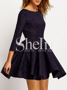 Shop Navy Cut Out Back Pleated Dress online. SheIn offers Navy Cut Out Back Pleated Dress & more to fit your fashionable needs.