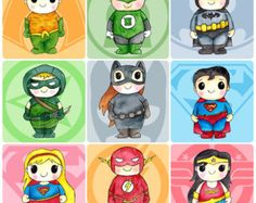 Choose any 6 Super heroes-Wonder woman, Superman, Green Lantern, Flash, Batman, Catwoman, Supergirl, Green Arrow, Aquaman,- 8x10 Art Print  These prints are from my original watercolor illustrations.  You will recieve: Quantity: 6 Prints Size: 8x10 inches Paper: Printed on 100lb Linen Cover, beautiful linen texture.  **For various other print sizes, please direct message me to confirm pricing of custom sizes.  ✪ STAY CONNECTED ✪ Facebook: https://www.facebook.com/YFL.ART Instag...