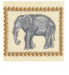 Free Elephant Cross Stitch Pattern