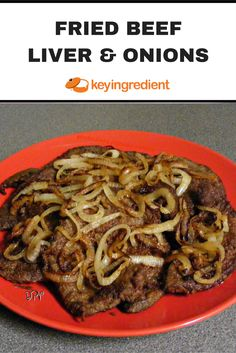 Fried Beef Liver & Onions Recipe - - This recipe will make everyone love liver, it's just THAT good! Serve with a side of rice and a nice salad. Onion Recipes, Beef Recipes, Cooking Recipes, Beef Meals, German Recipes, Cabbage Recipes, Grilled Peach Salad, Grilled Peaches, How To Cook Liver