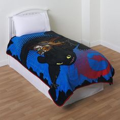 Dreamworks how to train your dragon chau single twin bed quilt dreamworks keeps him cozy with this boys fleece blanket featuring how to train your dragon ccuart Image collections