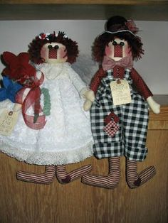 Andy and Me Forever Will Be E-pattern, Raggedies, Rag Dolls, Special Occasion, Wedding Dolls, Raggedy Ann & Andy Pattern by MyDarlinDolls on Etsy