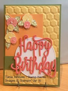 Tania Johnson : Stamp Haven: Happy Birthday Gorgeous, Stampin' Up!, 2017 - 2018 Annual Catalogue