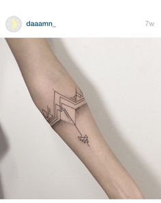 Geometric arm band tattoo