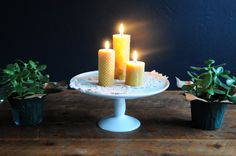 100% Pure Beeswax Candle Pillar Gift Set: 1 by PioneerCandle