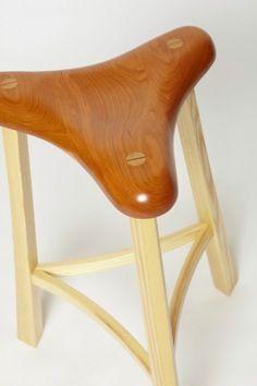 Bob Newton custom made wood stool