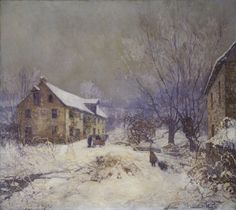 Edward Willis Redfield, The Day Before Christmas, 1919 (source).