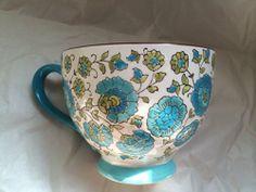Dutch Wax by Coastline Imports Handpainted Blue Floral Ceramic Mug Dutch Wax http://www.amazon.com/dp/B00KPUK0DC/ref=cm_sw_r_pi_dp_1xbRtb07Y021R6PP