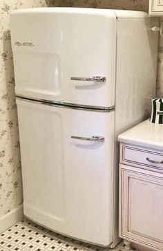 """What do you think of our retro fridge? One happy pinner wrote: """"words cannot explain how much I want this retro fridge from Big Chill. I have been stalking it for years' Click to find out more about our American made retro appliances"""