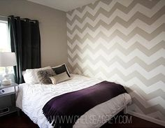Trendy Chevron stencil pattern for contemporary home decor. Geometric stencil patterns, wall stencils at great prices. Home Bedroom, Bedroom Wall, Bedroom Decor, Bedroom Ideas, Bedroom Modern, Bedroom Inspiration, Modern Wall, Bed Room, Kids Bedroom