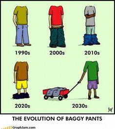 Evolution of Baggy Pants